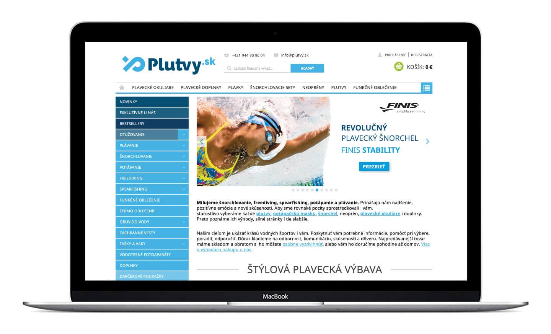 internetový obchod plutvy.sk dizajn loga