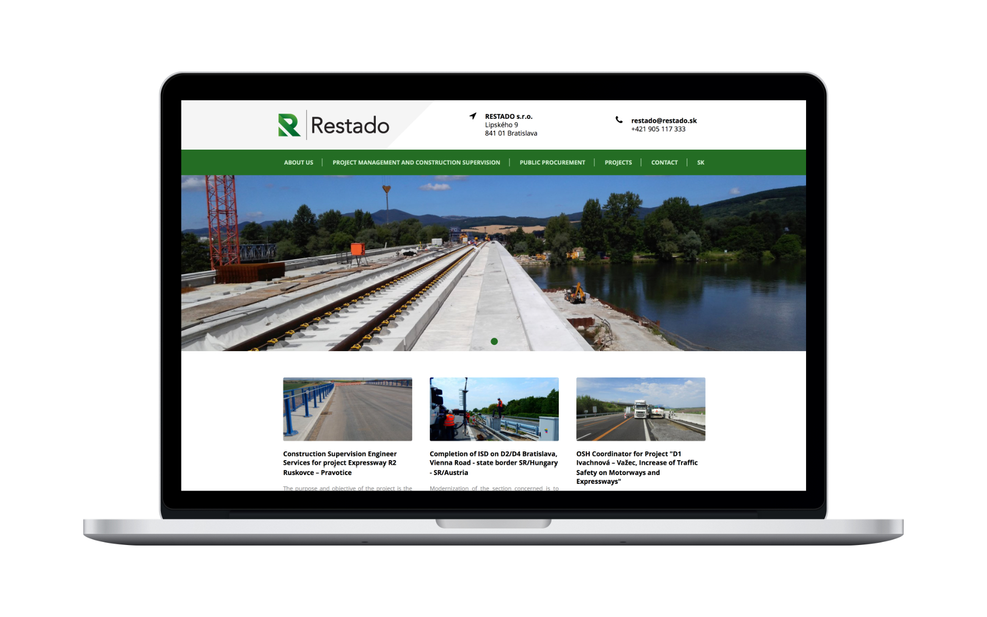 website design and branding for restado by michael maleek djibril
