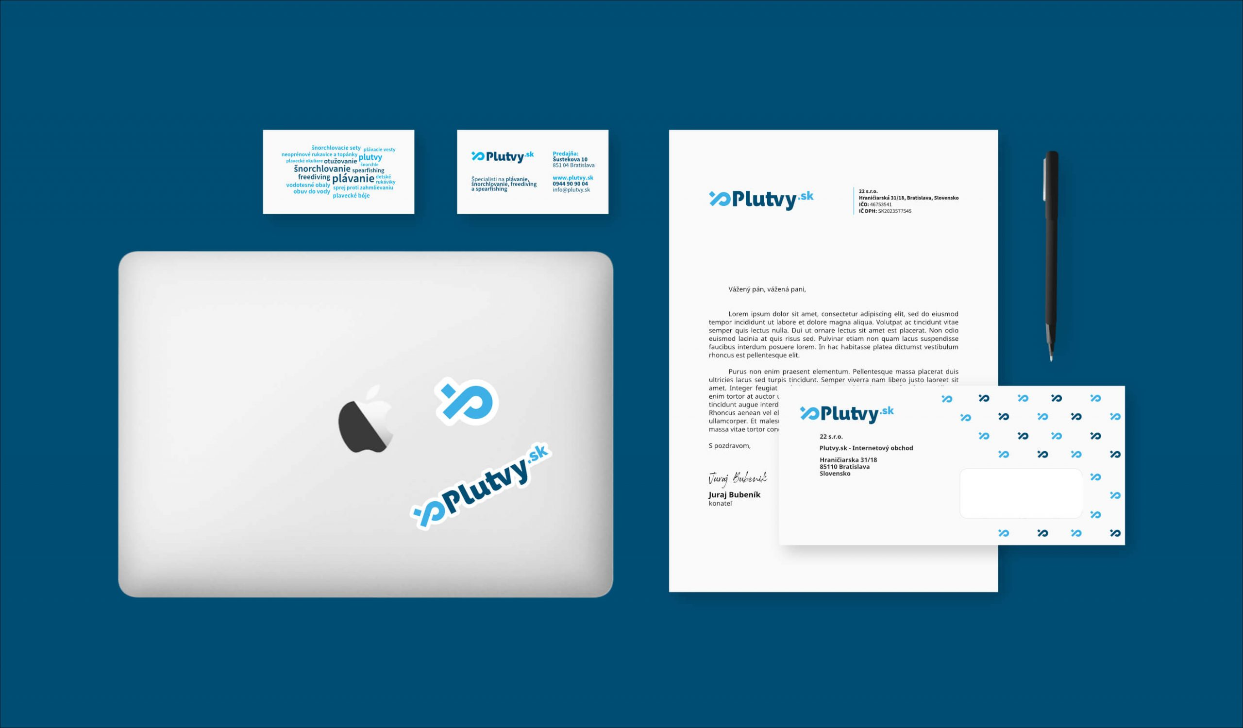 plutvy-sk final logo branding stationery by michael maleek djibril