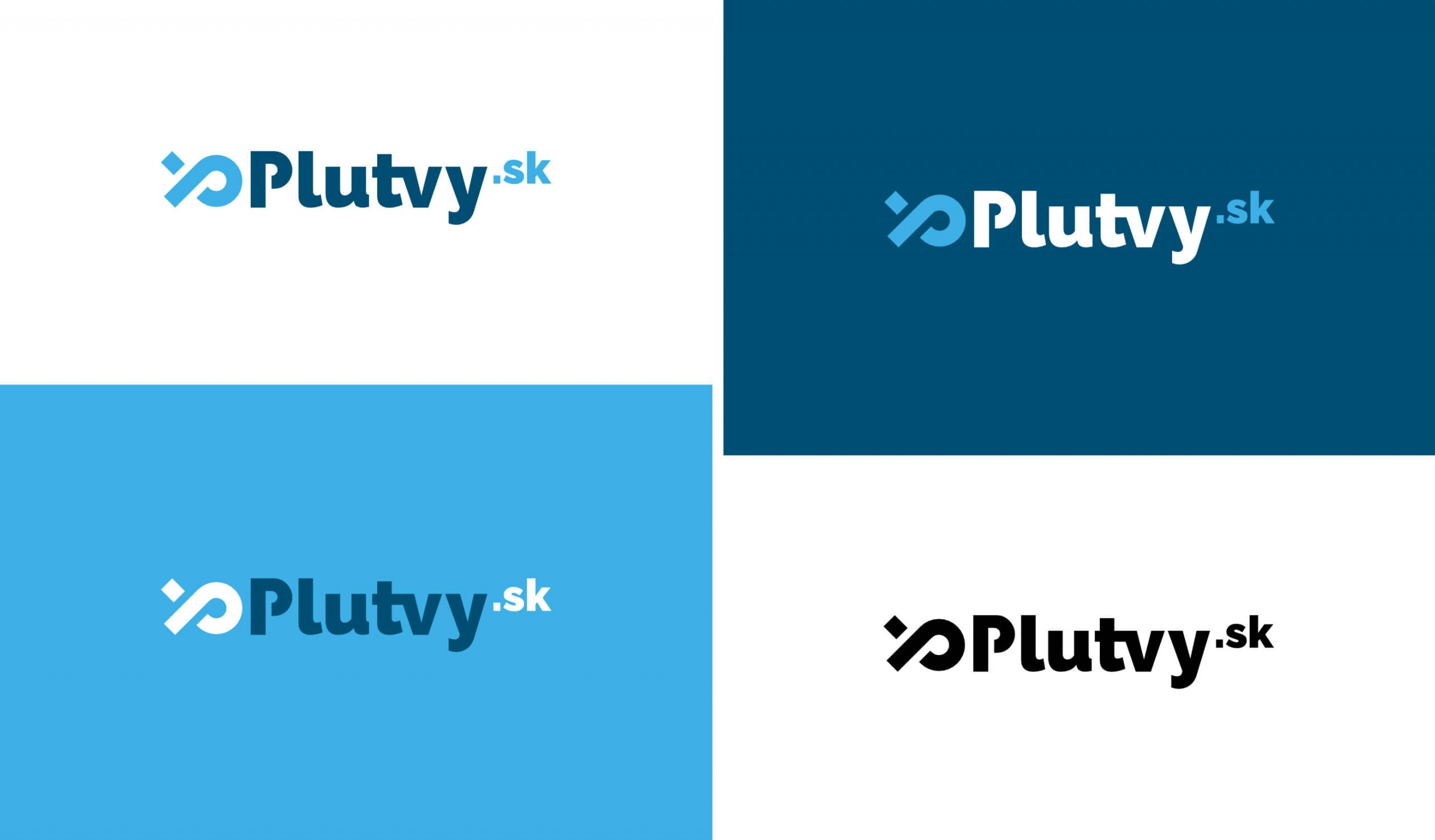 plutvy-sk final logo colour variations branding by michael maleek djibril